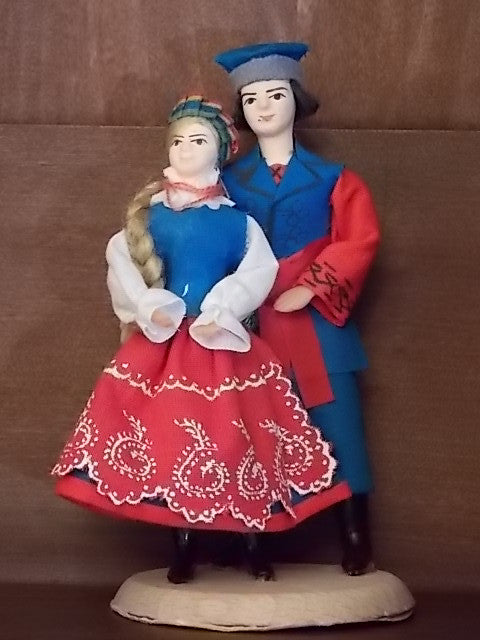 Polish Folk Dancer Couple