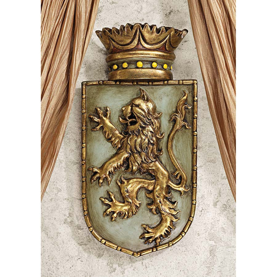Medieval Rampant Lion Shield