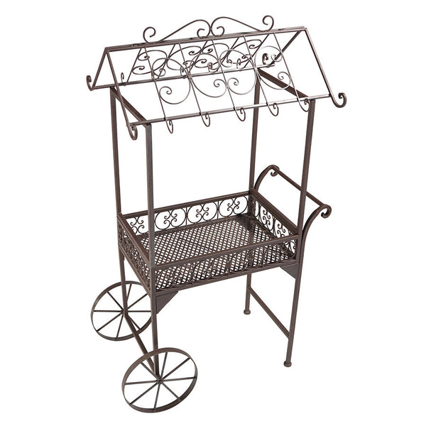 Metal Flower Pushcart