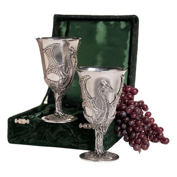 Dragon Pewter Goblets
