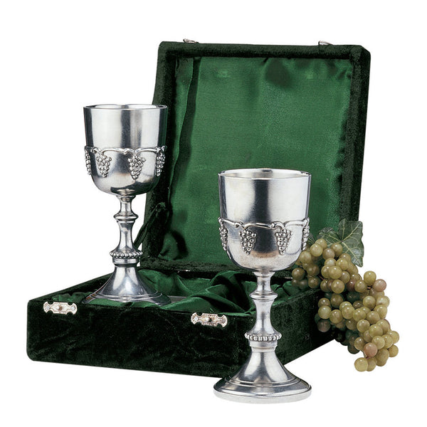 Grape Harvest Pewter Goblets