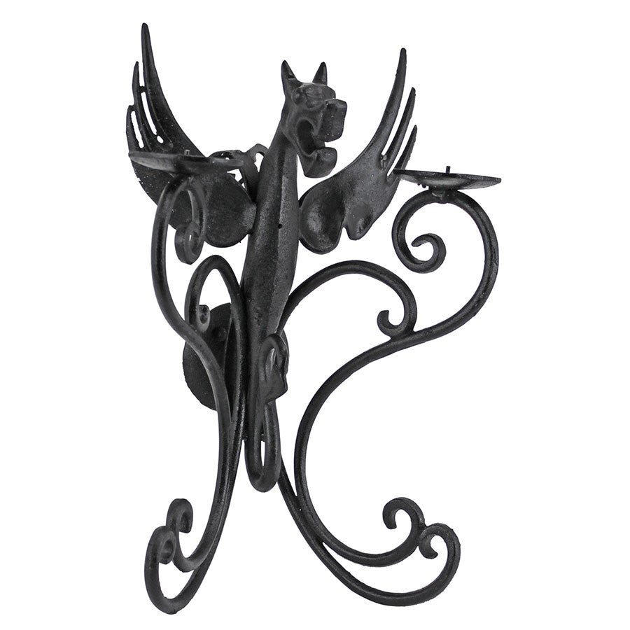 Castle Dragon Iron Wall Sconce