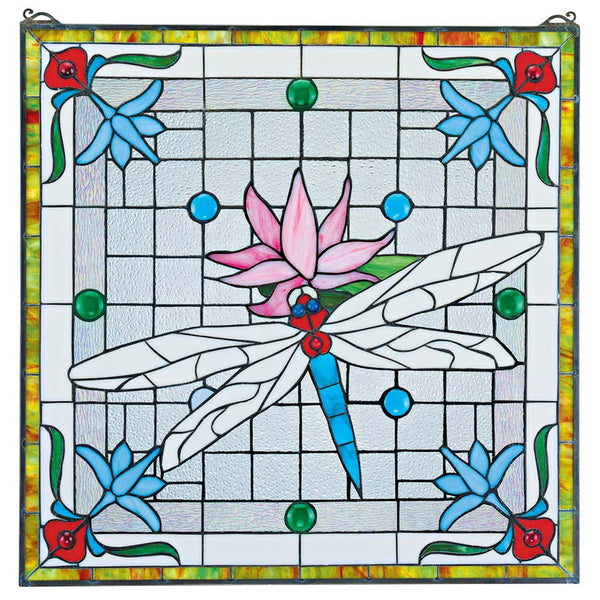 Dragonfly Pond Stained Glass