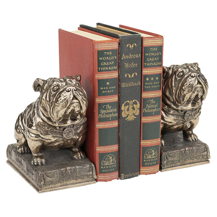 Bull Dog Bookends