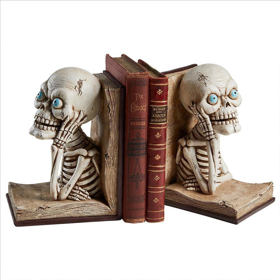 Literary Skeleton Bookends