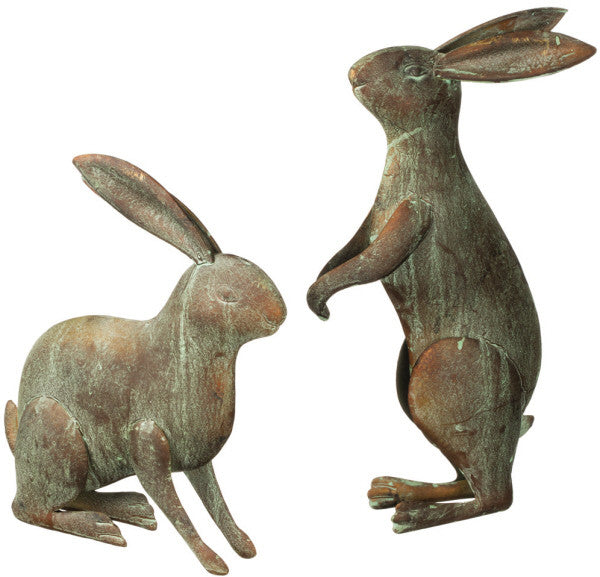 Two Metal Rabbits by Sullivans