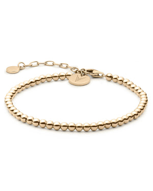 The Beaded Bracelet - Gold
