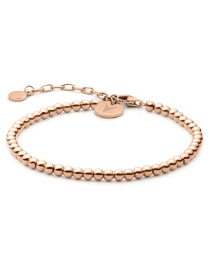 The Beaded Bracelet - Rose Gold