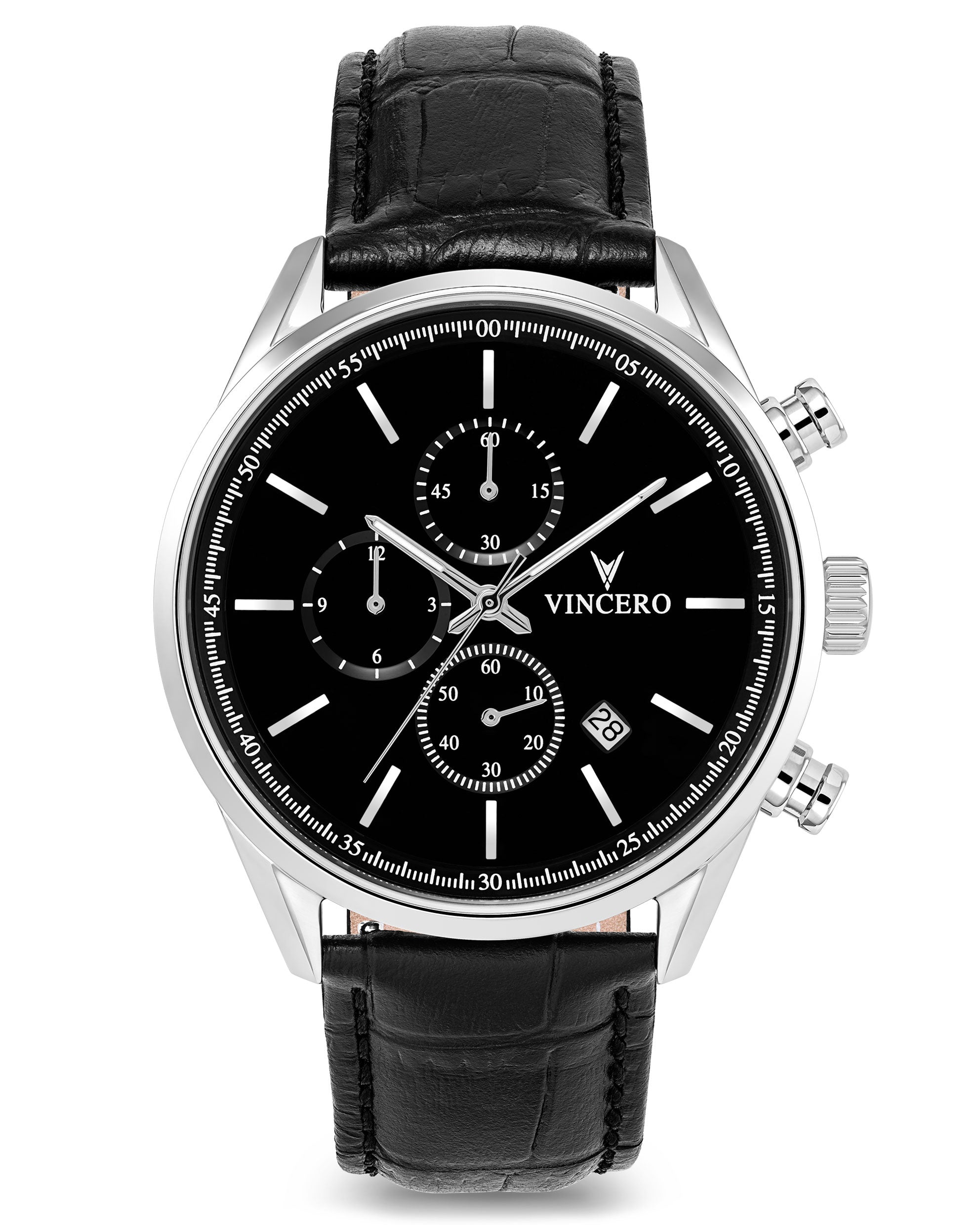 The Chrono S - Black/Silver 40mm