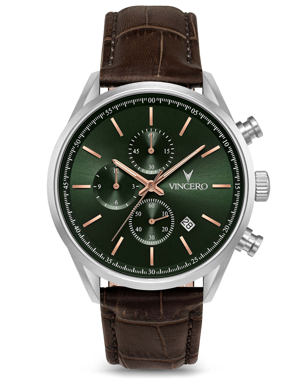 The Chrono S - Dark Olive/Silver 40mm