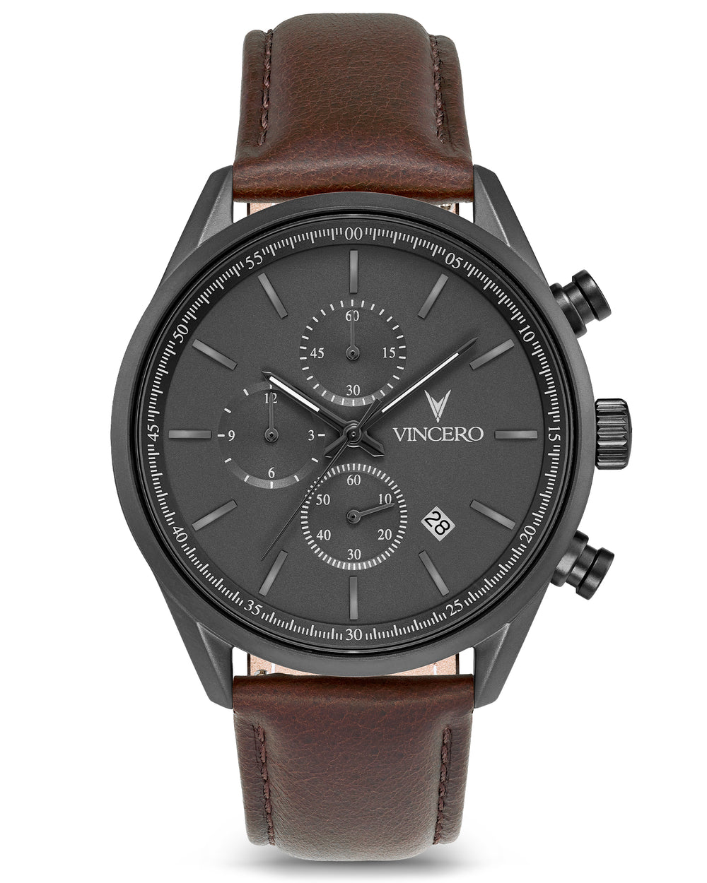 The Chrono S - Gunmetal/Walnut 40mm