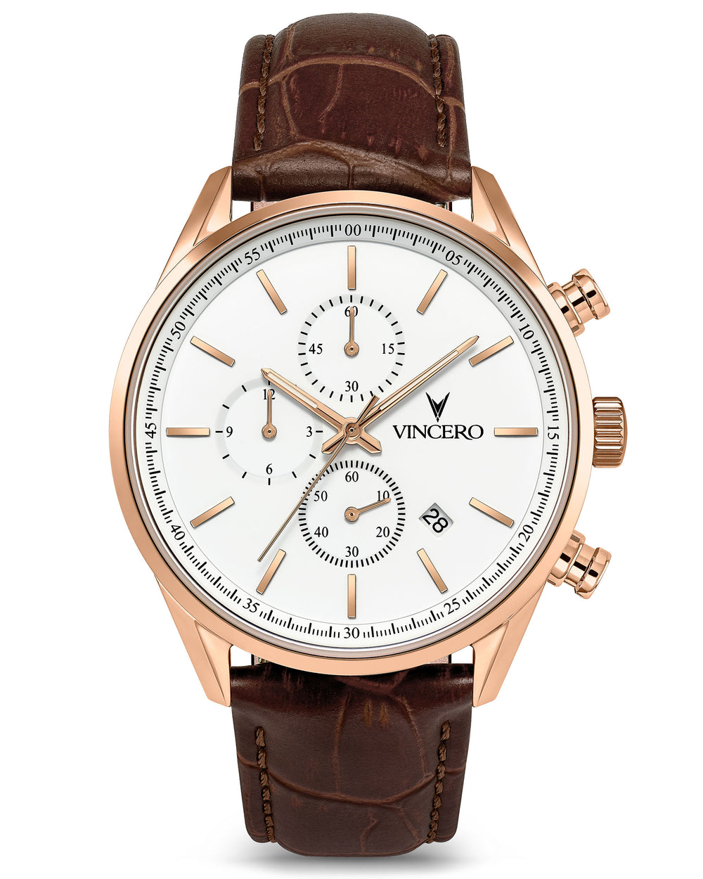 The Chrono S - Rose Gold/White 40mm