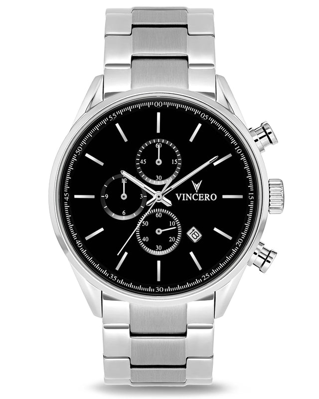 The Chrono S - Black/Silver Steel