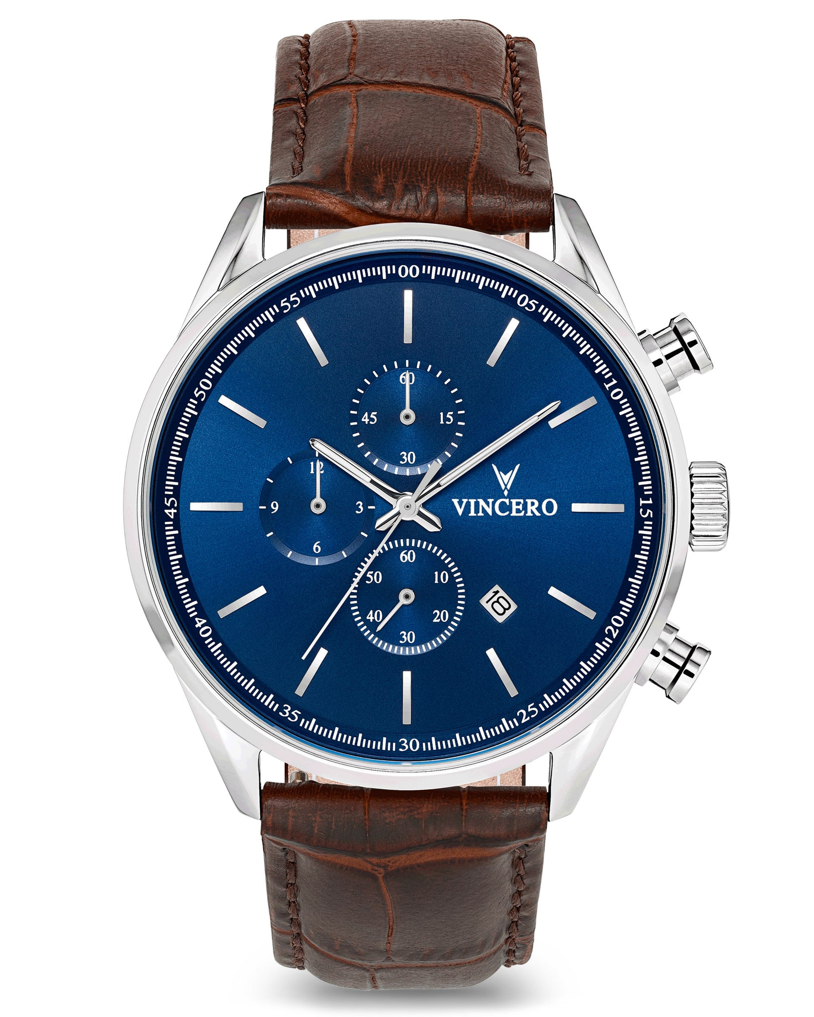 Men's Chronograph - Blue/Brown | Vincero Watches | Vincero Collective