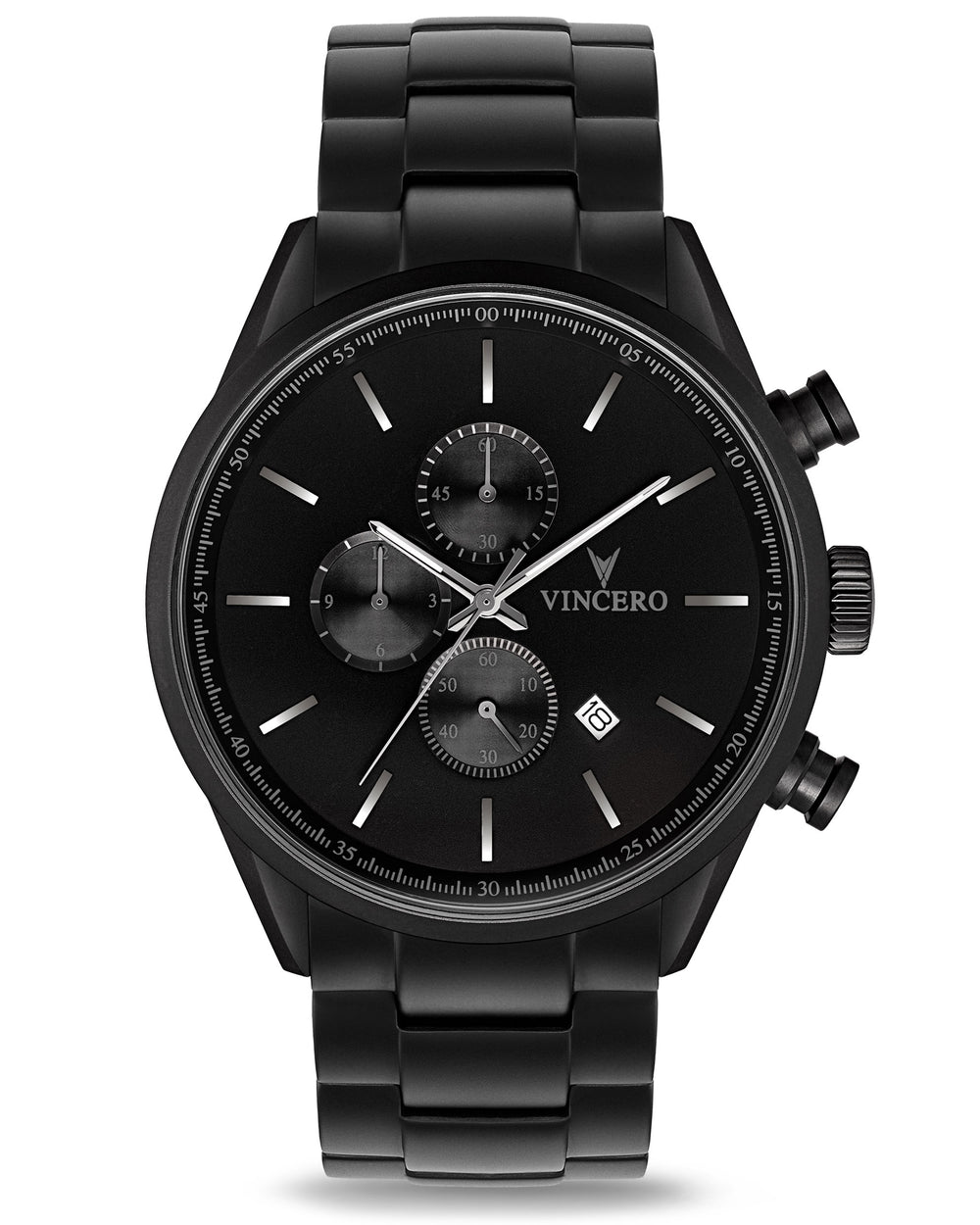 The Chrono S - Matte Black Steel