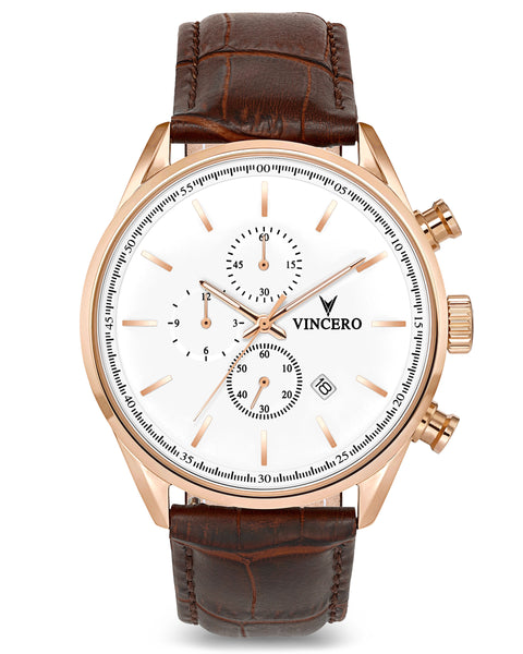 The Chrono S - Rose Gold/White