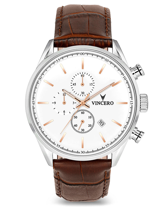 The Chrono S - Silver/Rose Gold