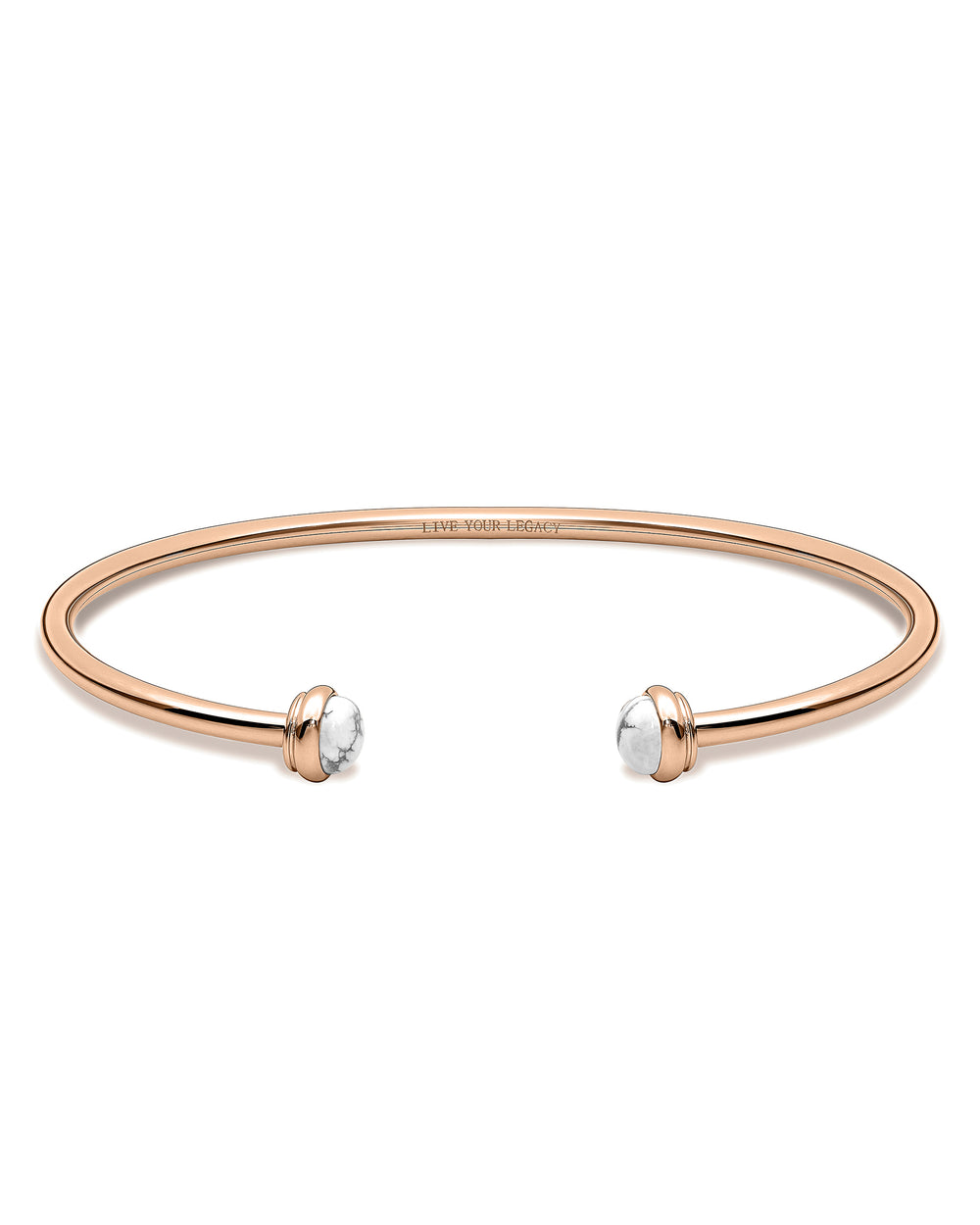The Cuff - Rose Gold + Carrara