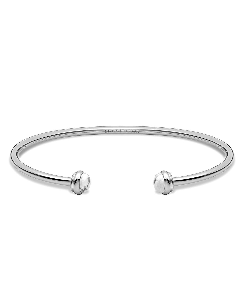 The Cuff - Silver + Carrara