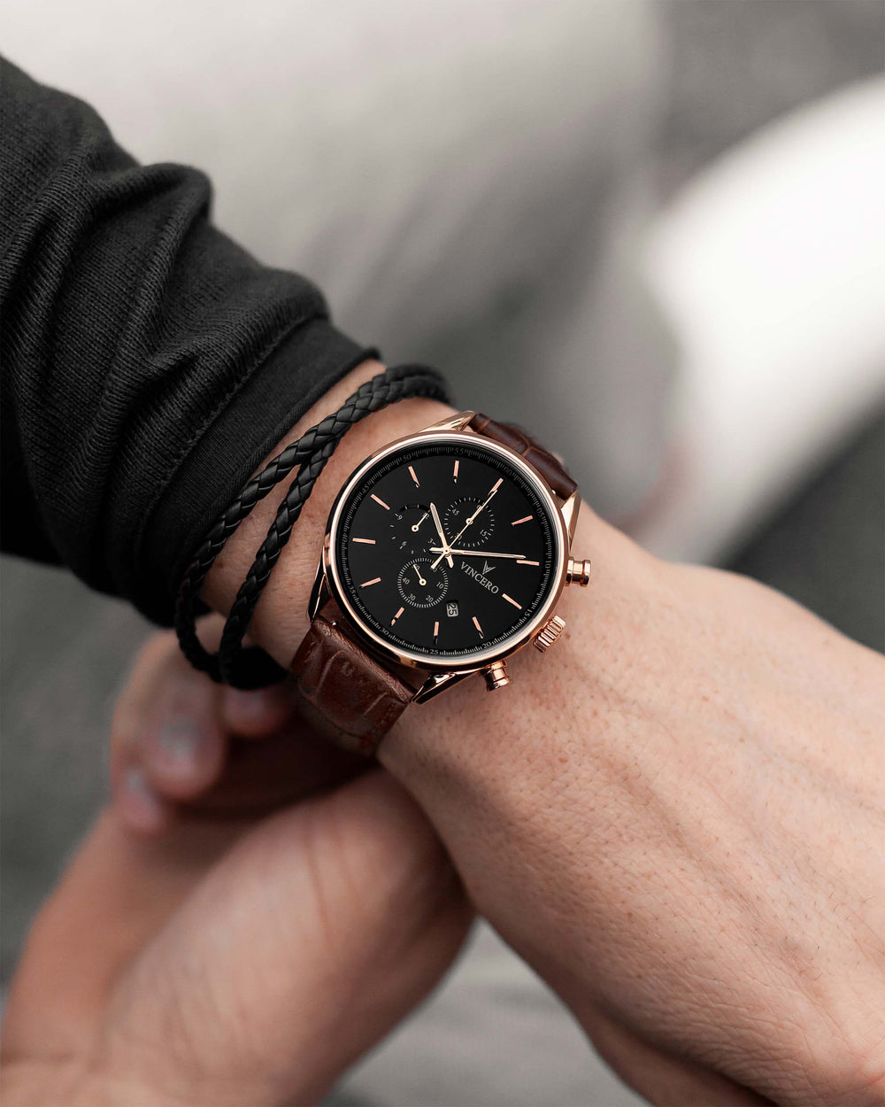 The Delta Double - Black/Rose Gold