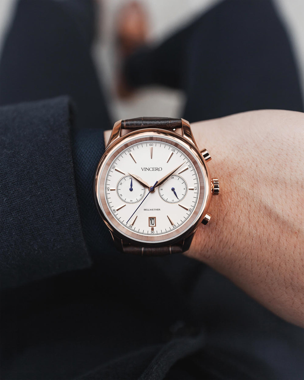 The Bellwether - Rose Gold/Brown