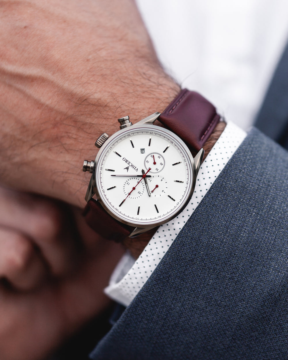 The Chrono S - Nickel/Oxblood