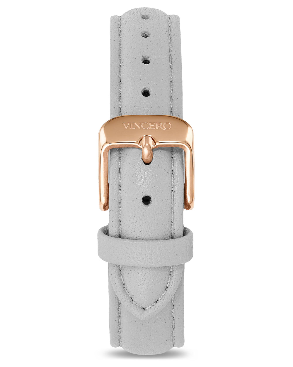 Women's Luxury Fog Italian Leather Watch Band Strap Rose Gold Clasp
