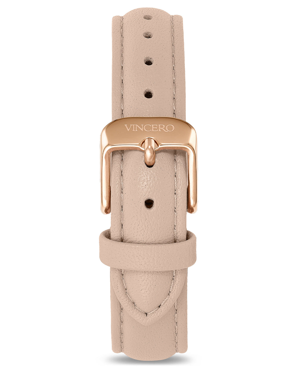 Women's Luxury Nude Italian Leather Watch Band Strap Rose Gold Clasp
