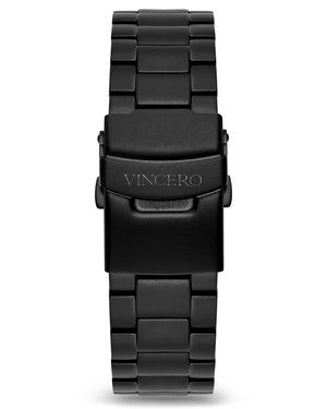 Steel - Matte Black 20mm Men's Luxury Matte Black 316L Stainless Steel Strap