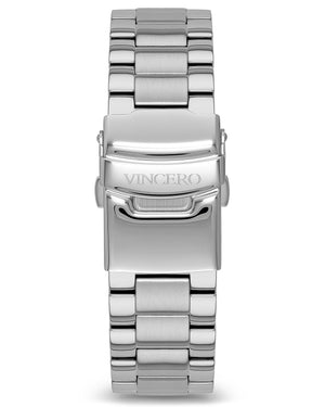 Steel - Silver 20mm Men's Luxury Silver 316L Stainless Steel Strap