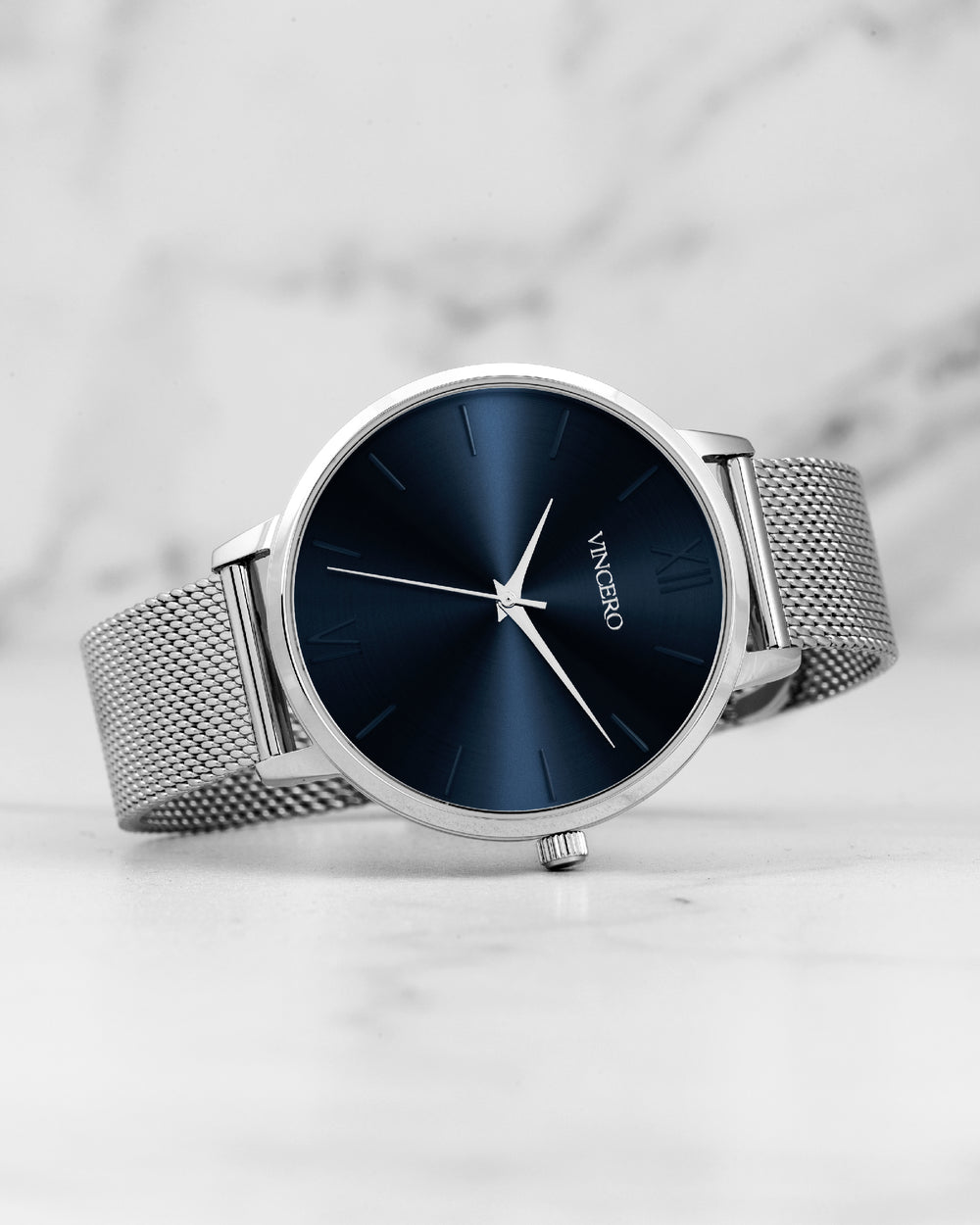 The Eros Mesh - Silver + Turkish Blue