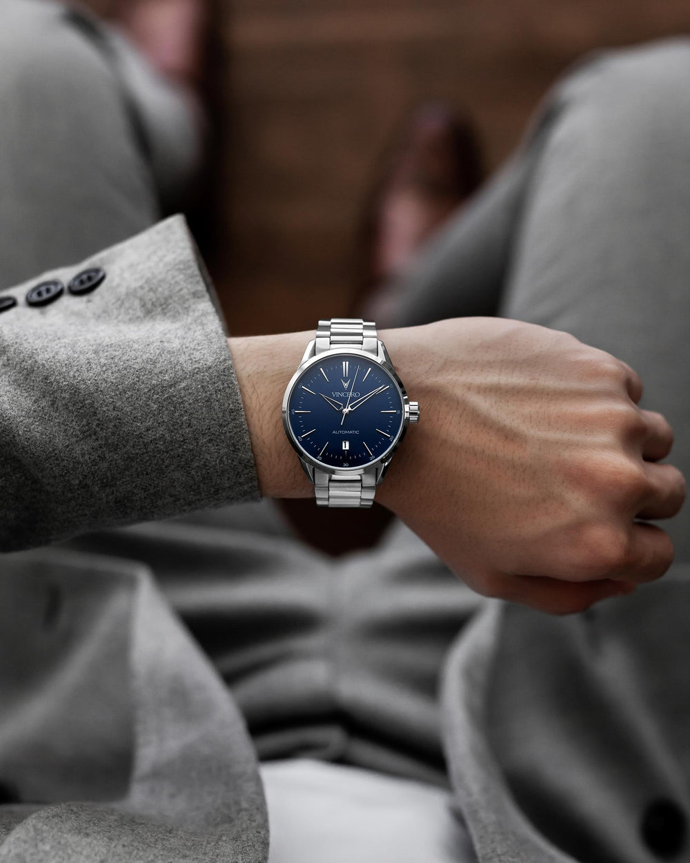 The Icon Automatic - Silver/Blue