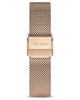 Eros 20mm Rose Gold 316L Stainless Steel Mesh Strap