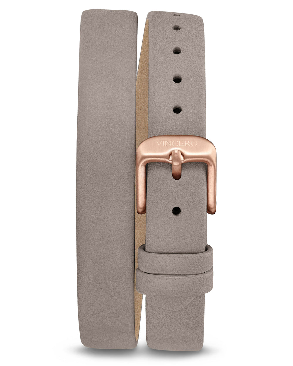Women's Luxury Mist Italian Leather Double Bracelet Band Strap Rose Gold Clasp
