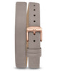 Ava Petite Mist Italian Leather Double Bracelet Strap Rose Gold clasp