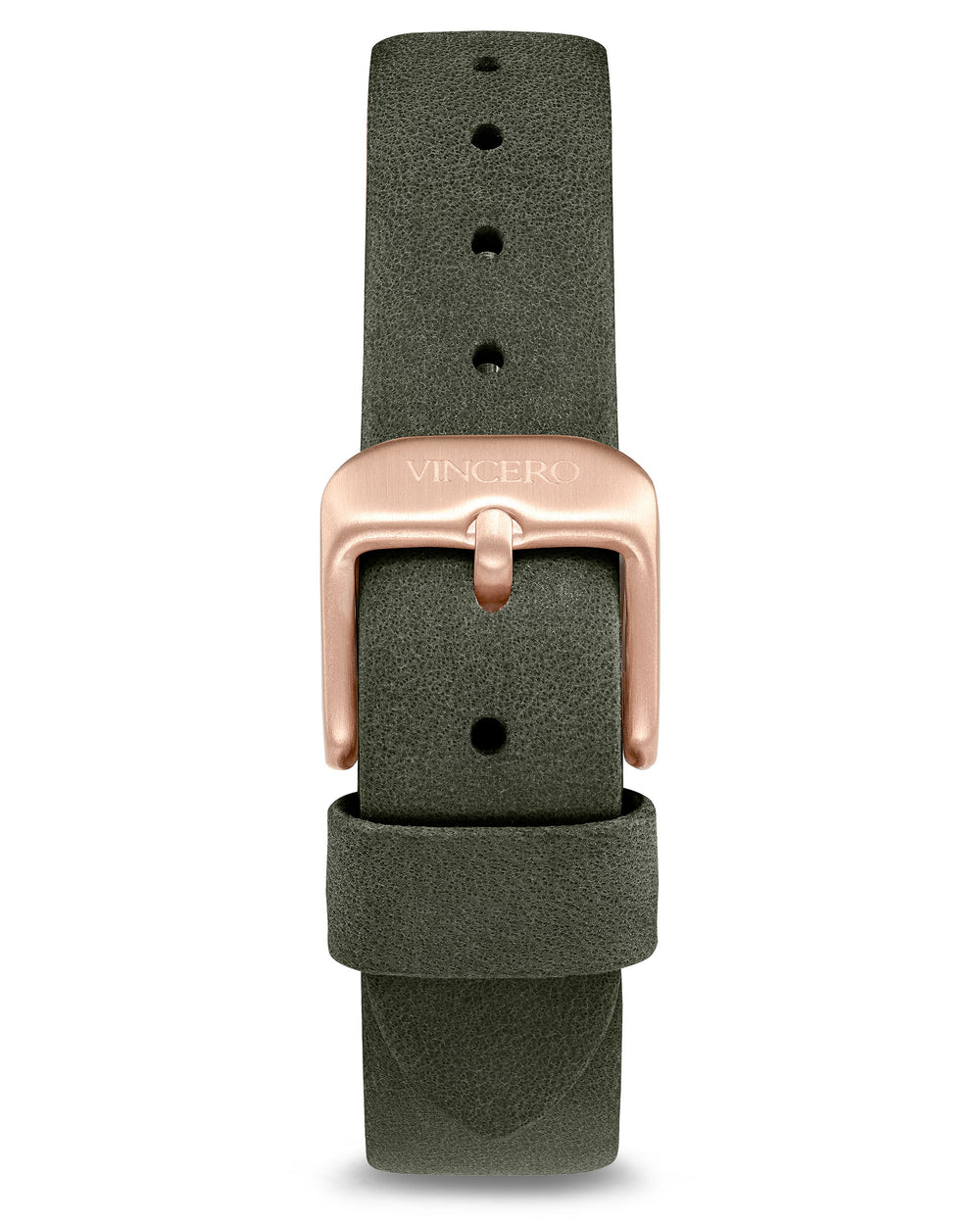 Women's Luxury Moss Italian Leather Watch Band Strap Rose Gold Clasp