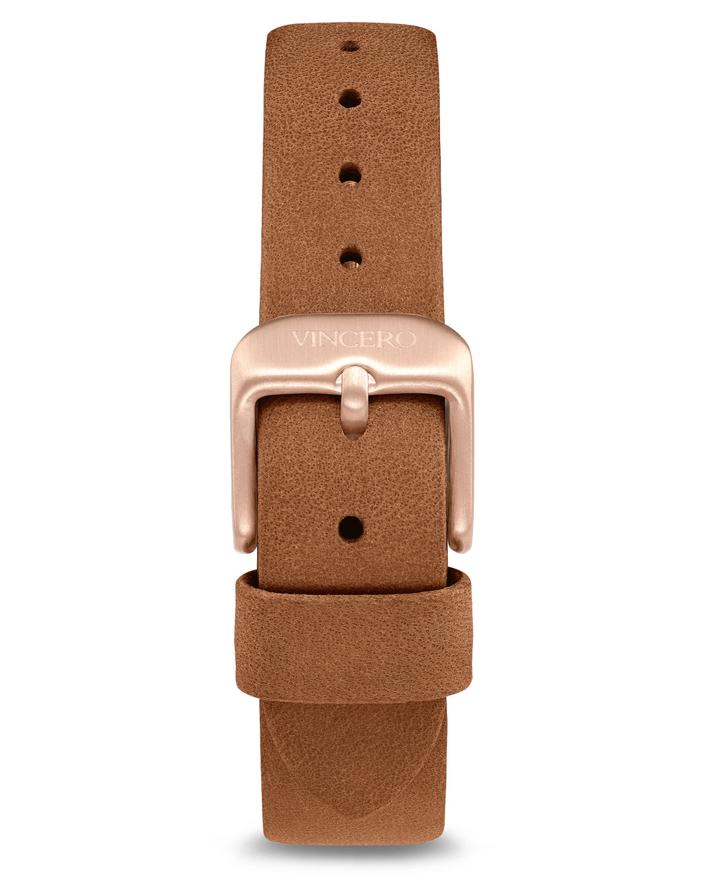 Women's Luxury Saddle Brown Italian Leather Watch Band Strap Rose Gold Clasp