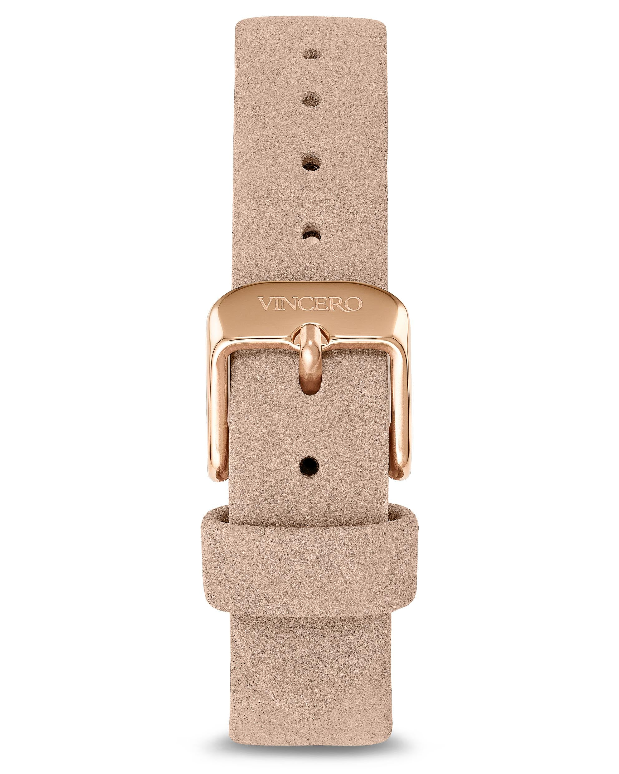 Women's Luxury Nude Italian Suede Nubuck Leather Watch Band Strap Rose/Gold Clasp