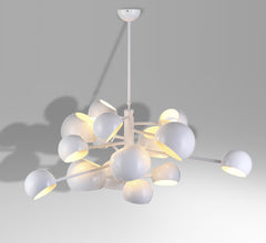 DWS 14-head modern ceiling lamp white