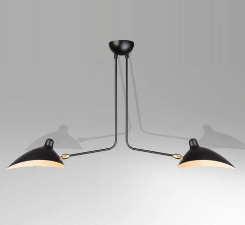 2-armed ceiling lamp by Serge Mouille