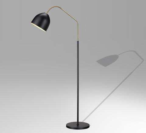 Unique floor lamp by Greta Grossman