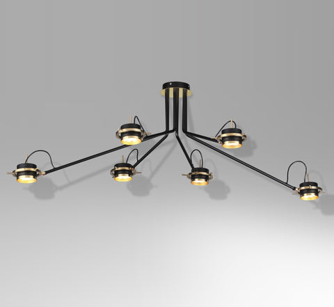 6-head ceiling lamp