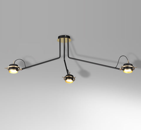 3-head ceiling lamp