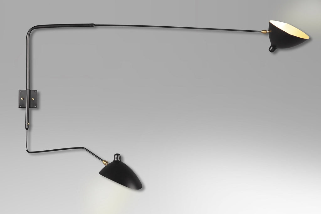 2-armed  two-armed serge mouille wall lamp