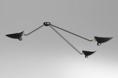 3-armed spider ceiling lamp by Serge Mouille