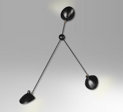 3-armed spider wall lamp by Serge Mouille
