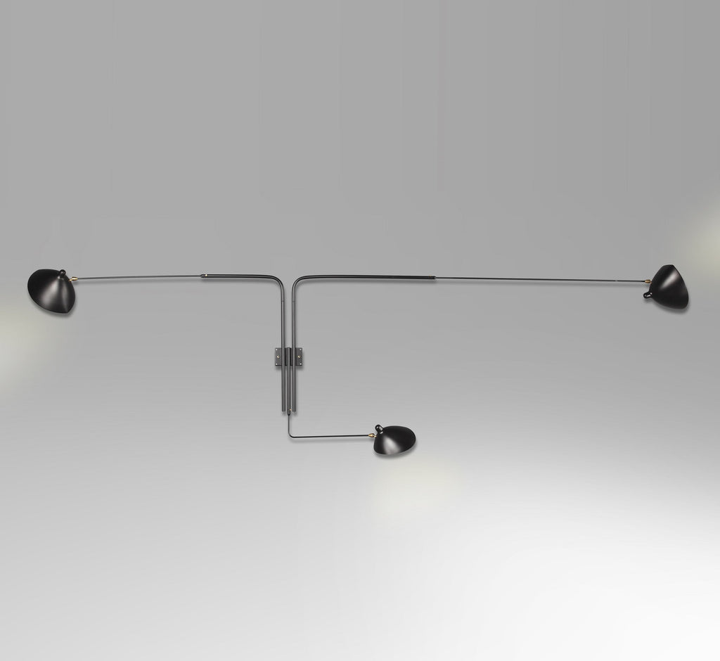 Serge Mouille 3-armed wall lamp