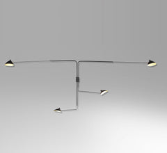 Serge Mouille 4-armed wall lamp