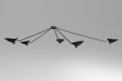 5-armed spider ceiling lamp by Serge Mouille