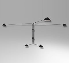 Serge Mouille 5-armed wall lamp